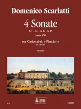 Scarlatti, Domenico : 4 Sonatas (K. 3, 7, 10, 13) for Keyboard