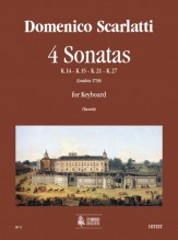 Scarlatti, Domenico : 4 Sonatas (K. 14, 15, 21, 27) for Keyboard