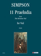 """Simpson, Christopher : 11 Praeludia from """"The Division Viol"""" for Viol"""