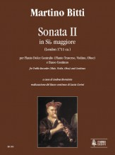Bitti, Martino : Sonata II in B flat Major (London c.1711) for Treble Recorder (Flute, Violin, Oboe) and Continuo