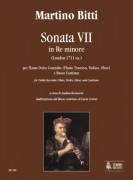 Bitti, Martino : Sonata VII in D Minor (London c.1711) for Treble Recorder (Flute, Violin, Oboe) and Continuo