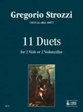 Strozzi, Gregorio : 11 Duets for 2 Viols or 2 Violoncellos