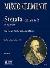 Clementi, Muzio : Sonata Op. 28 No. 2 in E flat Major for Violin, Violoncello and Piano