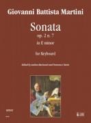 Martini, Giovanni Battista : Sonata Op. 2 No. 7 in E Minor for Keyboard