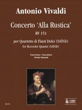Vivaldi, Antonio : Concerto 'Alla Rustica' RV 151 for Recorder Quartet (SATGb)