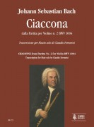 Bach, Johann Sebastian : Chaconne for Flute solo from Partita for Violin No. 2 BWV 1004