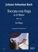 Bach, Johann Sebastian : Toccata con Fuga in D Minor BWV 565 for Harp