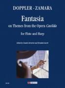 "Doppler, Franz - Zamara, Antonio : Fantasia on Themes from the Opera ""Casilda"" for Flute and Harp"