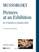 Mussorgsky, Modest : Pictures at an Exhibition for 9 Clarinets or Clarinet Choir [Score]