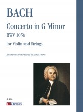 Bach, Johann Sebastian : Concerto in G Minor BWV 1056 for Violin and Strings [Score]