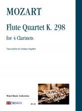 Mozart, Wolfgang Amadeus : Flute Quartet K. 298 for 4 Clarinets