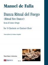 Falla, Manuel de : Danza Ritual del Fuego (Ritual Fire Dance) from 'El Amor Brujo' for 9 Clarinets or Clarinet Choir