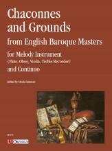 Chaconnes and Grounds from English Baroque Masters for Melody Instrument (Flute, Oboe, Violin, Treble Recorder) and Continuo