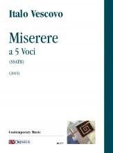 Vescovo, Italo : Miserere a 5 Voci (SSATB) (2015)