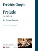 Chopin, Frédéric : Prelude Op. 28 No. 4 for Clarinet Quartet