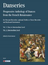 Danseries. Progressive Anthology of Dances from the French Renaissance for Descant Recorder, optional Treble or Tenor Recorder and Keyboard Instrument - Vol. 2: Intermediate Level