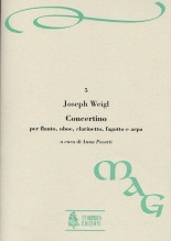 Weigl, Joseph : Concertino for Flute, Oboe, Clarinet, Bassoon and Harp [Score]