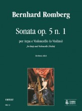 Romberg, Bernhard : Sonata Op. 5 No. 1 for Harp and Violoncello (Violin)