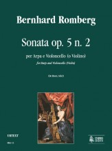 Romberg, Bernhard : Sonata Op. 5 No. 2 for Harp and Violoncello (Violin)