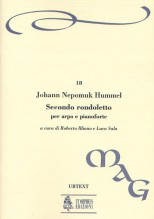 Hummel, Johann Nepomuk : Rondoletto No. 2 for Harp and Piano