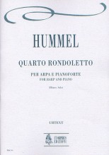 Hummel, Johann Nepomuk : Rondoletto No. 4 for Harp and Piano