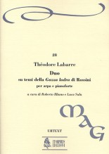 "Labarre, Théodore : Duo on themes from Rossini's ""Gazza ladra"" for Harp and Piano"