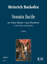 Backofen, Heinrich : Sonata Facile for Violin (Flute) and Harp (Piano)
