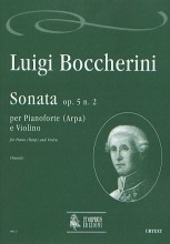 Boccherini, Luigi : Sonata Op. 5 No. 2 for Piano (Harp) and Violin