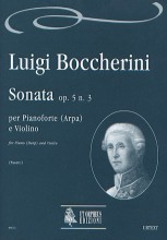 Boccherini, Luigi : Sonata Op. 5 No. 3 for Piano (Harp) and Violin