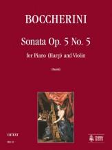 Boccherini, Luigi : Sonata Op. 5 No. 5 for Piano (Harp) and Violin