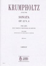 Krumpholtz, Johann Baptist : Sonata Op. 12 No. 4 for Harp (with Violin and Violoncello ad libitum)