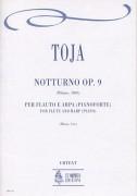 Toja, Giovanni : Notturno Op. 9 (Milano 1830) for Flute and Harp (Piano)
