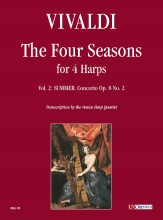 Vivaldi, Antonio : The Four Seasons for 4 Harps - Vol. 2: Summer - Concerto Op. 8 No. 2