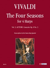 Vivaldi, Antonio : The Four Seasons for 4 Harps - Vol. 3: Autumn - Concerto Op. 8 No. 3