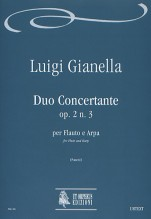 Gianella, Luigi : Duo Concertante Op. 2 No. 3 for Flute and Harp