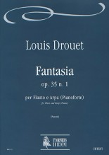 Drouet, Louis : Fantasia Op. 35 No. 1 for Flute and Harp (Piano)