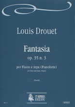 Drouet, Louis : Fantasia Op. 35 No. 3 for Flute and Harp (Piano)