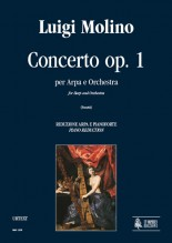 Molino, Luigi : Concerto Op. 1 for Harp and Orchestra [Piano Reduction]