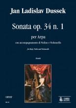 Dussek, Jan Ladislav : Sonata Op. 34 No. 1 for Harp, Violin and Violoncello