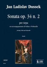 Dussek, Jan Ladislav : Sonata Op. 34 No. 2 for Harp, Violin and Violoncello