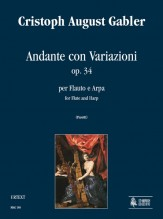 Gabler, Cristoph August : Andante con Variazioni Op. 34 for Flute and Harp