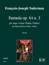 Naderman, François-Joseph : Fantasia Op. 64 No. 3 for Harp and Horn (Flute, Violin)