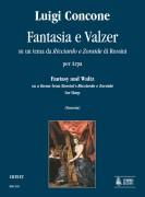 """Concone, Luigi : Fantasia and Waltz on a theme from Rossini's """"Ricciardo e Zoraide"""" for Harp"""