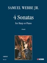 Webbe Jr., Samuel : 4 Sonatas for Harp or Piano