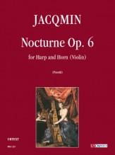 Jacqmin, Henry : Nocturne Op. 6 for Harp and Horn (Violin)
