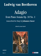 Beethoven, Ludwig van : Adagio from Piano Sonata Op. 10 No. 1 for Harp