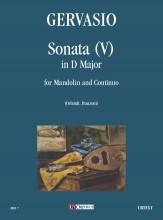 Gervasio, Giovan Battista : Sonata (V) in D Major for Mandolin and Continuo