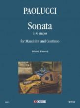 Paolucci, Giuseppe : Sonata in G Major for Mandolin and Continuo