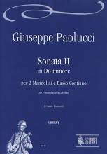 Paolucci, Giuseppe : Sonata II in C Minor for 2 Mandolins and Continuo