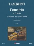 Lamberti, Luigi : Concerto in D Major for Mandolin, Strings and Continuo [Score]